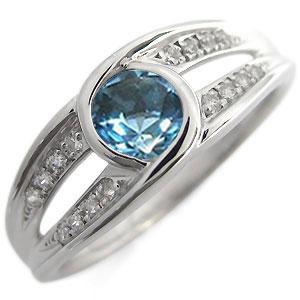 23日20時~ プラチナ・リング・指輪・大粒・11月誕生石・ブルートパーズ・リング