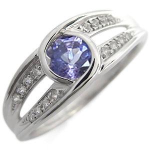 10金 大粒 婚約指輪 エンゲージリング 12月誕生石 タンザナイト 一粒