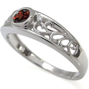 婚約指輪 唐草 エンゲージリング 一粒 ガーネット エンゲージリング 18金O0P8wkZNnX