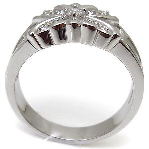 バタフライ・メンズリング・クロス・18金・ダイヤモンド・指輪CxrdBoeW