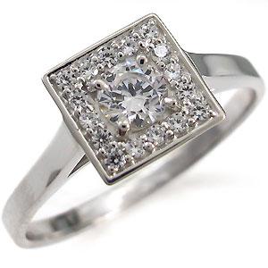 ダイヤモンド・指輪・スクエア・リング・一粒・リング・10金