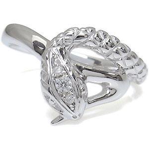 送料無料 ダイヤモンド メンズリング ヘビ 蛇 スネーク 18金 ダイヤモンド スネーク メンズリング 蛇 リング 18金