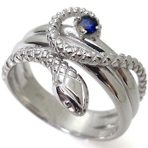 サファイア・スネーク・10金・ヘビ・蛇・指輪