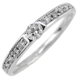 【10%OFF】1月1日00:00~ ハーフエタニティ・リング・プラチナ・一粒・ダイヤモンド・指輪