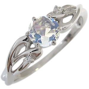 ロイヤルブルームーンストーン リング 6月誕生石 18金 大粒 ロイヤルブルームーンストーン 指輪