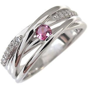 ピンクトルマリン 指輪 10月誕生石 一粒 10金 リング10P27May16