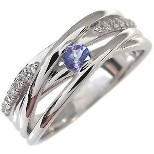 タンザナイト 指輪 12月誕生石 一粒 10金 リング10P27May16