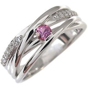 【10%OFFクーポン】5日23:59迄 9月誕生石リング ピンクサファイア 指輪 一粒 10金 リング10P27May16