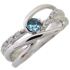 ブルートパーズ エンゲージリング K18 一粒 婚約指輪 ブルートパーズリングxoWQerCdB