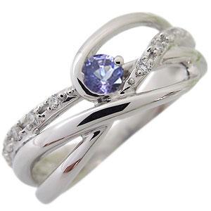 タンザナイト・リング・12月誕生石・一粒・10金・指輪