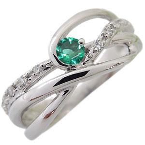 エメラルド・リング・5月誕生石・一粒・10金・指輪