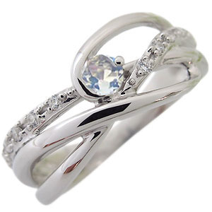 ロイヤルブルームーンストーン・リング・6月誕生石・一粒・10金・指輪
