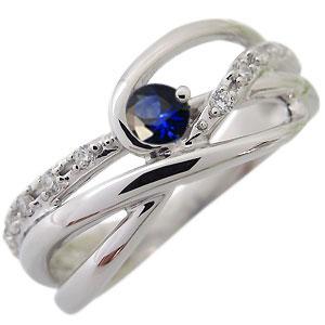 サファイア リング K18 一粒 指輪 サファイアリング