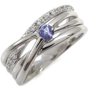 23日20時~ プラチナ・リング・タンザナイト・指輪・レディース・太め・一粒・リング 母の日 プレゼント