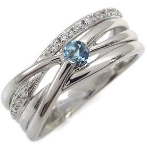 プラチナ エンゲージリング アクアマリンサンタマリア 婚約指輪 一粒 リング