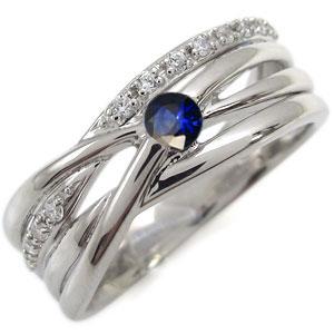 プラチナ エンゲージリング サファイア 婚約指輪 一粒 リング