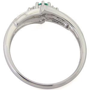 プラチナ エンゲージリング エメラルド 婚約指輪 一粒 リングDEH9W2I