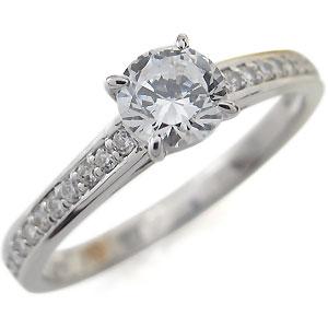 プラチナ・ハーフエタニティ・婚約指輪・ダイヤモンド・リングL3Aj4R5q