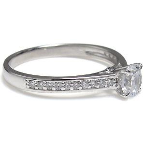 プラチナ・ハーフエタニティ・婚約指輪・ダイヤモンド・リングNw8ZnOkP0X