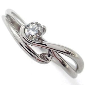 エンゲージリング 婚約指輪 ダイヤモンド エレガント K10