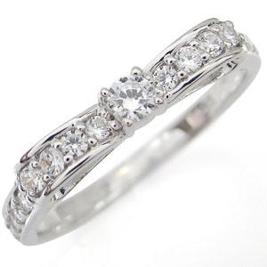 リボン・リング・ダイヤモンド・指輪・可愛い・上品・指輪 K10