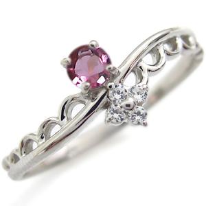 9/11 1:59迄一粒 ピンクトルマリン 婚約指輪 ピンクトルマリンリング K18 ピンキーリング