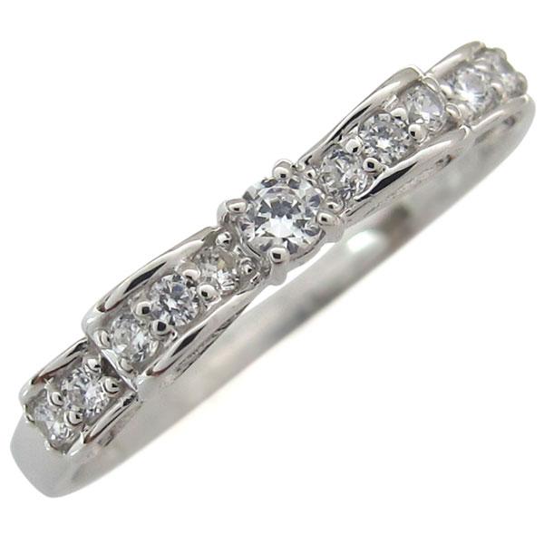 9/11 1:59迄リボン ダイヤモンドリング 誕生石 指輪 18金 ダイヤモンド リング ダイヤ ピンキーリング ファランジリング プレゼント ジュエリー クリスマス