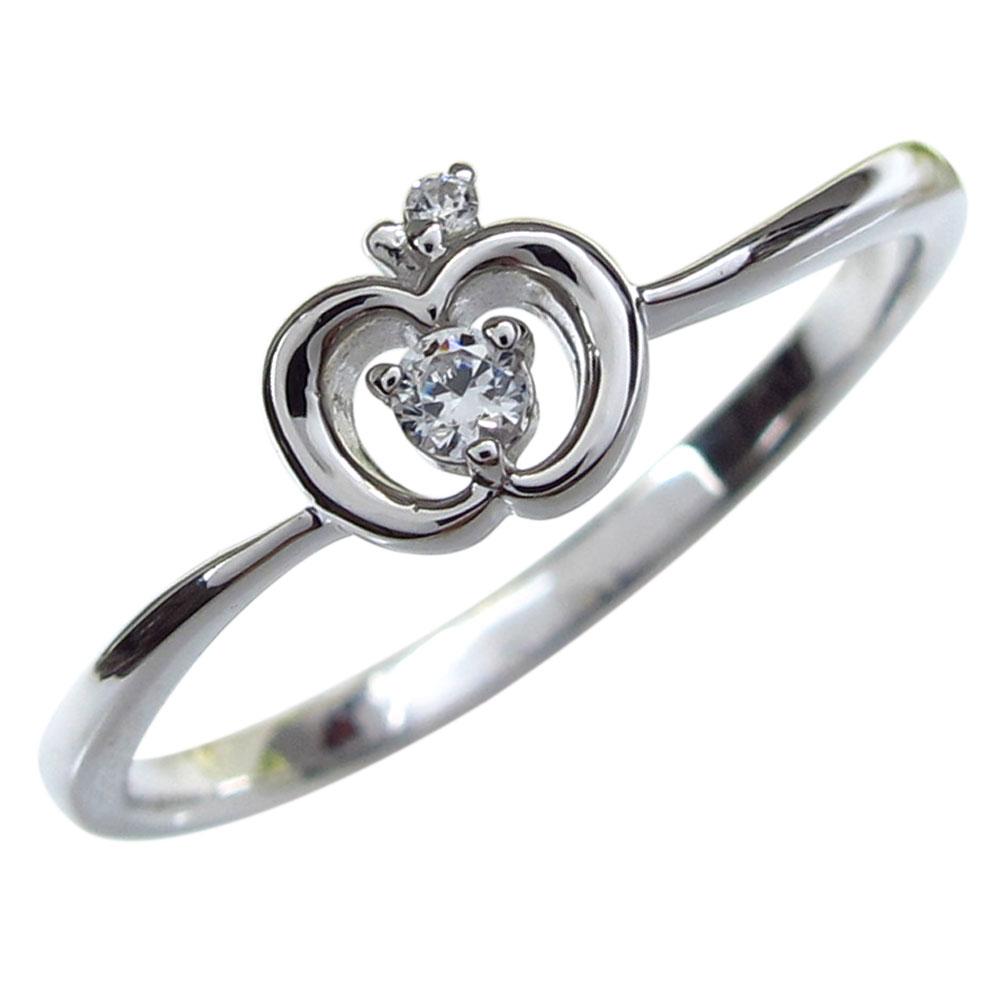9/11 1:59迄18金・ダイヤモンド・りんご・指輪・リング