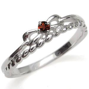 プラチナ・ピンキーリング・リボン・指輪・選べる誕生石・ロープ
