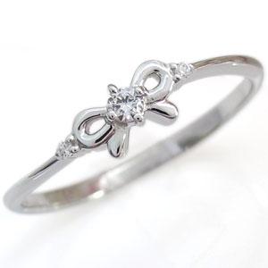 【10%OFF】4日20時~ ダイヤモンド・10金・指輪・リング・リボン・リング・一石