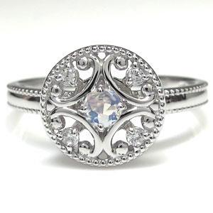 プラチナ 指輪 ロイヤルブルームーンストーン リング アンティークH29YeEWID