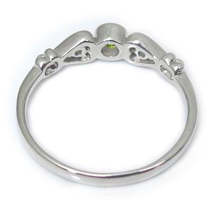 ペリドット・リング・一粒・ハート・K18・指輪mNOwv8n0