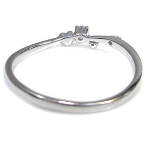 タンザナイト・ハート・リング・指輪・華奢・ピンキーリング・K10XZuPiTkO