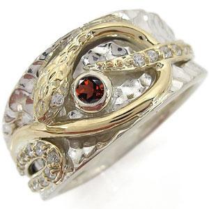 注目のブランド プラチナ ガーネット メンズ 蛇 指輪 スネークリング リング メンズ 蛇 リング, Suitable:e3039d79 --- spotlightonasia.com