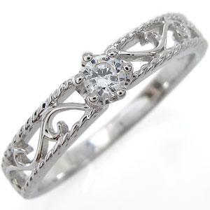 指輪 リング 唐草 王冠 シルバー レディース ダイヤモンド