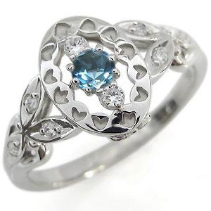 ブルートパーズ 婚約指輪 一粒 ブルートパーズリング K18