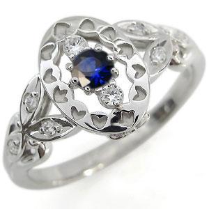 サファイア エンゲージリング アンティーク エンゲージリング 婚約指輪