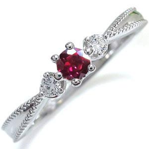 プラチナ 王冠 リング ルビー 王冠 指輪