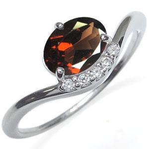 プラチナ ガーネット リング 大粒 指輪