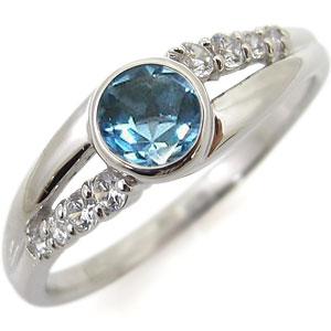 指輪 ブルートパーズ 一粒 11月誕生石 リング