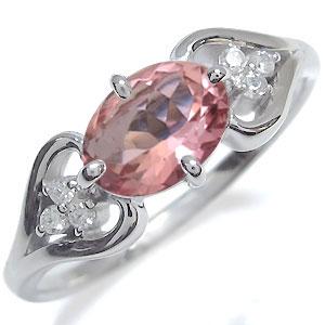 ピンクトルマリン 大粒 リング 18金 リング 指輪