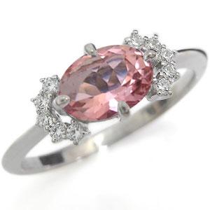プラチナ 指輪 ピンクトルマリン 指輪 ピンクトルマリンリング
