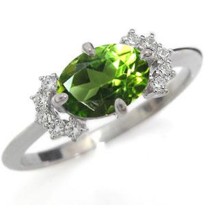 プラチナ 指輪 ペリドット 指輪 ペリドットリング
