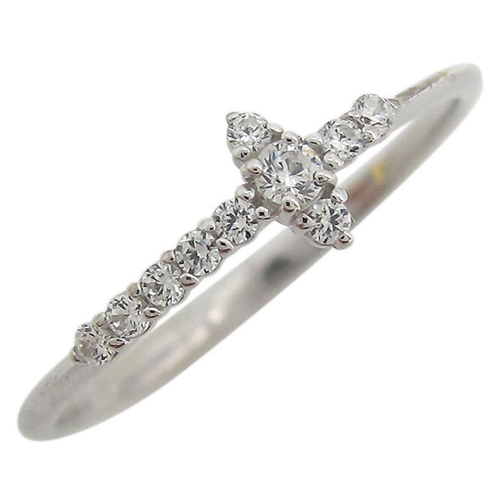 【10%OFF】4日20時~ ダイヤモンド・クロス・リング・指輪・ファランジリング