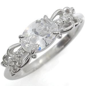 リング キュービックジルコニア プラチナ 指輪