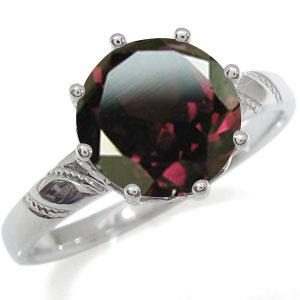 プラチナ 指輪 大粒 リング ロードライトガーネット 指輪 蔦