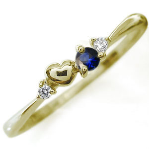 【10%OFF】4日20時~ ハートモチーフ・ピンキーリング・選べる誕生石・18金・指輪