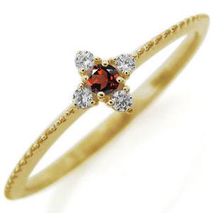 クロス ピンキーリング 誕生石 ファランジ リング 10金 指輪