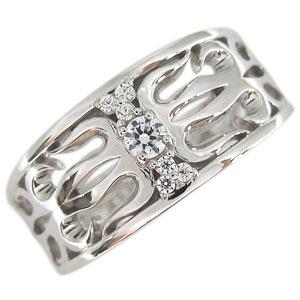 送料無料 メンズリング プラチナリング トライバル 唐草 指輪 プラチナ・ダイヤモンド・リング・メンズリング・トライバル・指輪