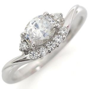 指輪 大粒 プラチナ キュービックジルコニア リング